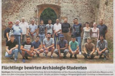 Mittagessen für Archäologen an der Severinskapelle