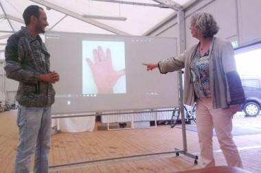 Start des Kunstprojektes Power of Hands